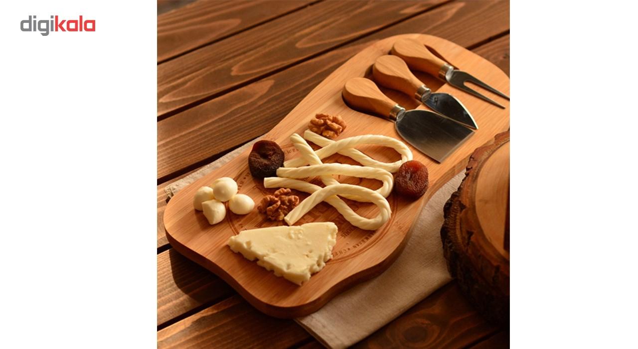 ست سرو پنیر بامبوم مدل B0122