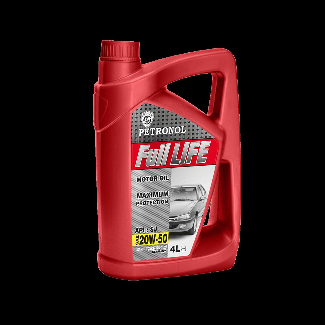 روغن موتور خودرو پترونول مدل فول لایف SAE 20W-50 ظرفیت 4 لیتر
