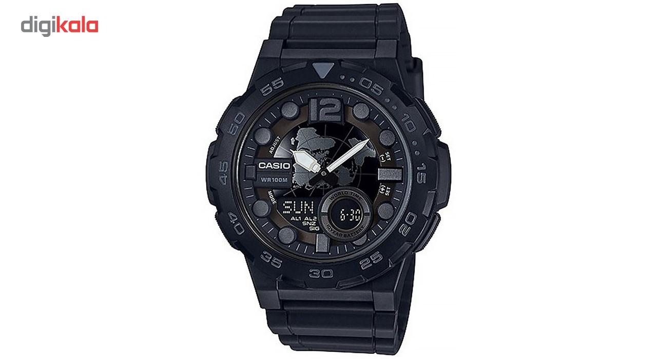 خرید ساعت مچی عقربه ای مردانه کاسیو مدل AEQ-100W-1BVDF