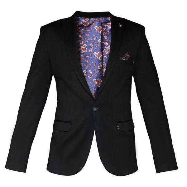 کت تک مردانه فول شاپ مدل دستمال جیب دار کد5