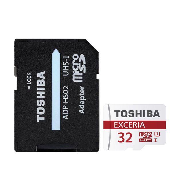 کارت حافظه microSDHC توشیبا مدل EXCERIA M302-EA کلاس 10 استاندارد UHS-I U1 سرعت 90MBps همراه با آداپتور SD ظرفیت32 گیگابایت