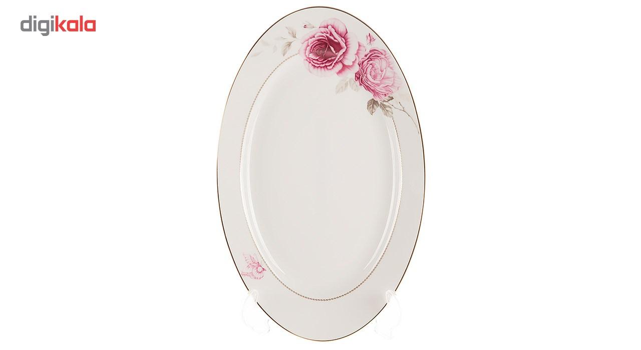 سرویس 102 پارچه چینی زرین ایران سری ایتالیا اف مدل Rose Flower درجه عالی