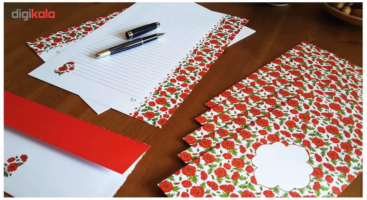 کاغذ یادداشت و پاکت نامه ملخی ستوده کد sbox035 سایز A4 بسته 20 برگ و 10 پاکت main 1 3