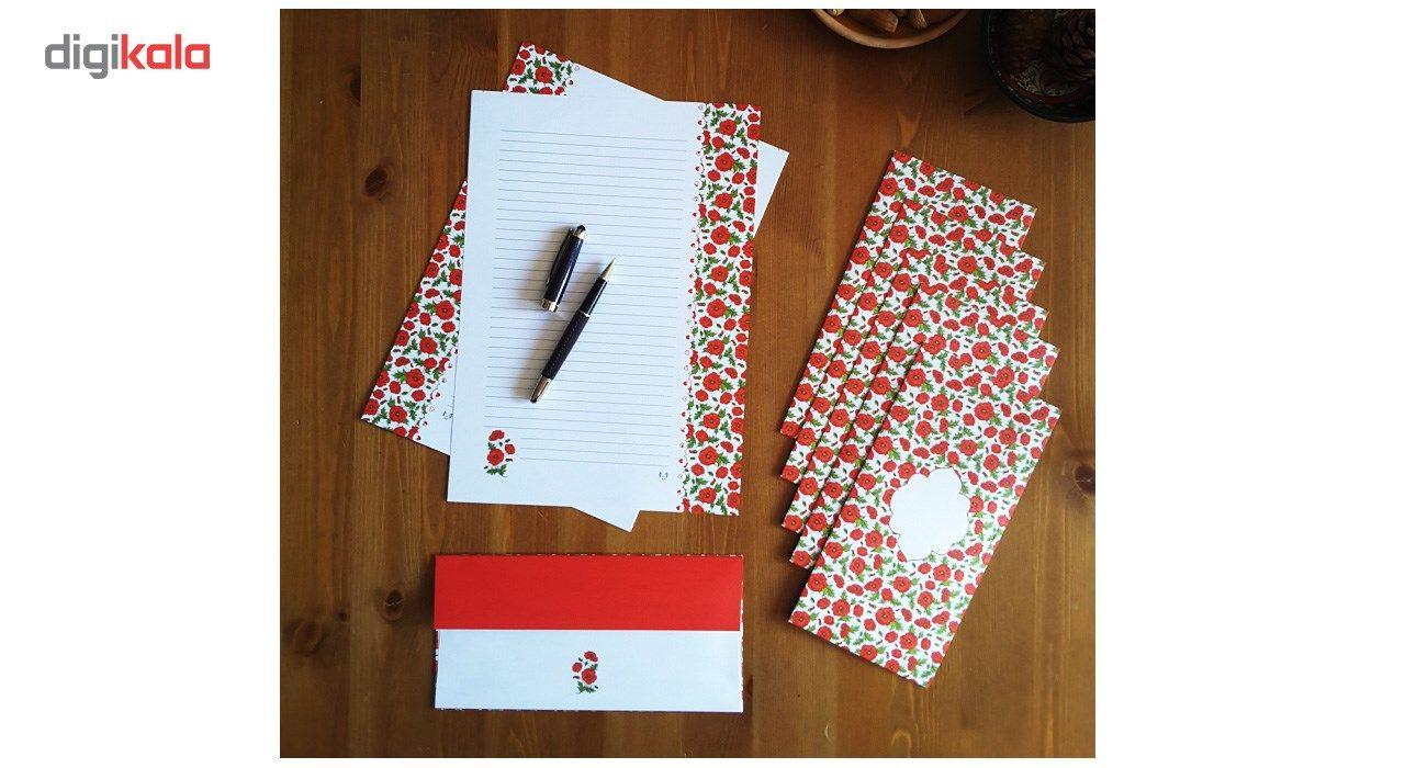 کاغذ یادداشت و پاکت نامه ملخی ستوده کد sbox035 سایز A4 بسته 20 برگ و 10 پاکت main 1 4