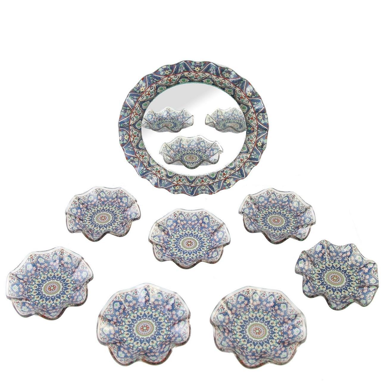 مجموعه ظروف هفت سین شیشهای گالری مقصود کد 135005