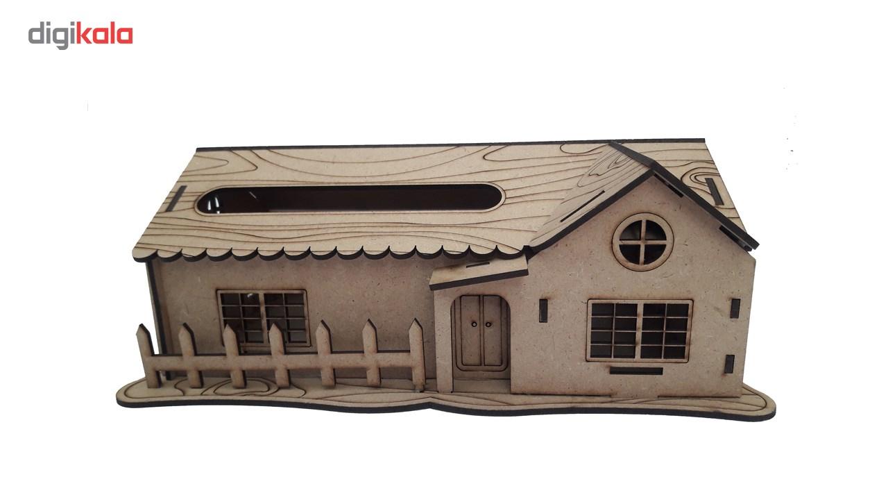 جعبه دستمال کاغذی کلبه مدل Dt-1431