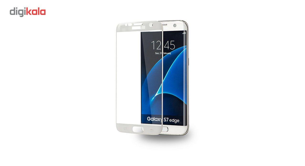 محافظ صفحه نمایش شیشه ای تمپرد مدل Full Cover مناسب برای گوشی موبایل سامسونگ Galaxy S7 Edge main 1 2