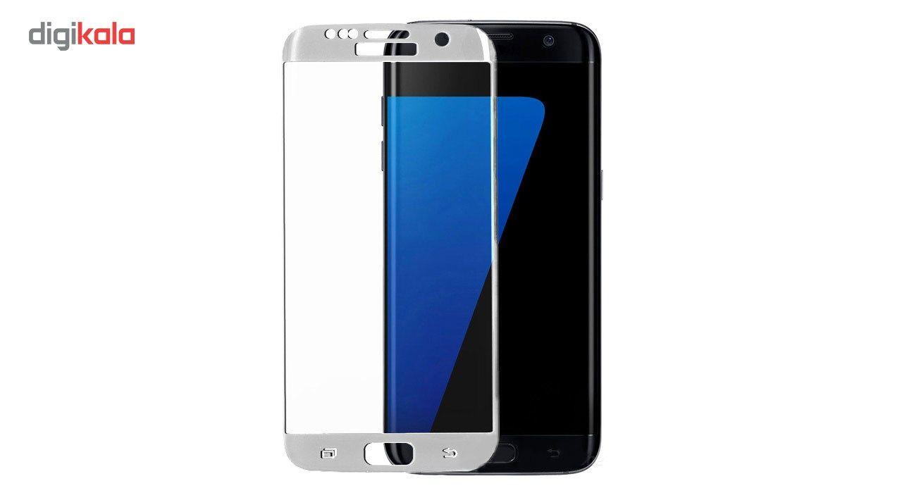 محافظ صفحه نمایش شیشه ای تمپرد مدل Full Cover مناسب برای گوشی موبایل سامسونگ Galaxy S7 Edge main 1 3