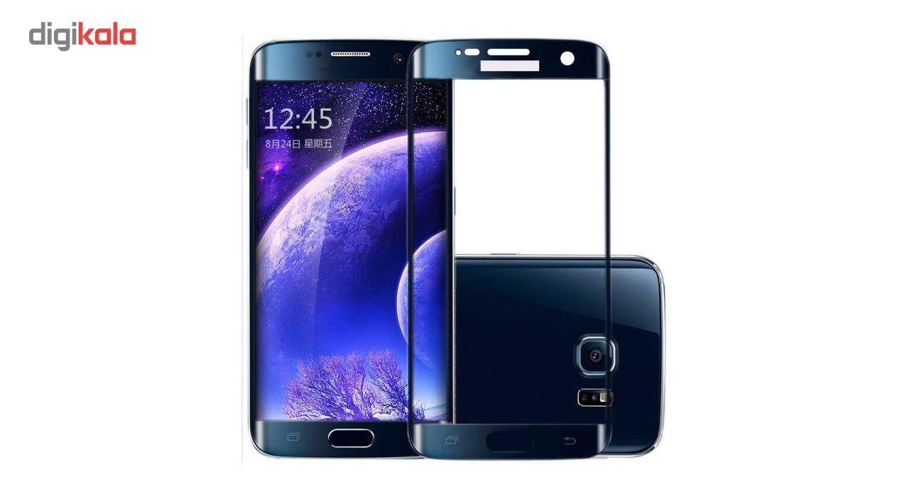 محافظ صفحه نمایش شیشه ای تمپرد مدل Full Cover مناسب برای گوشی موبایل سامسونگ Galaxy S7 Edge main 1 5