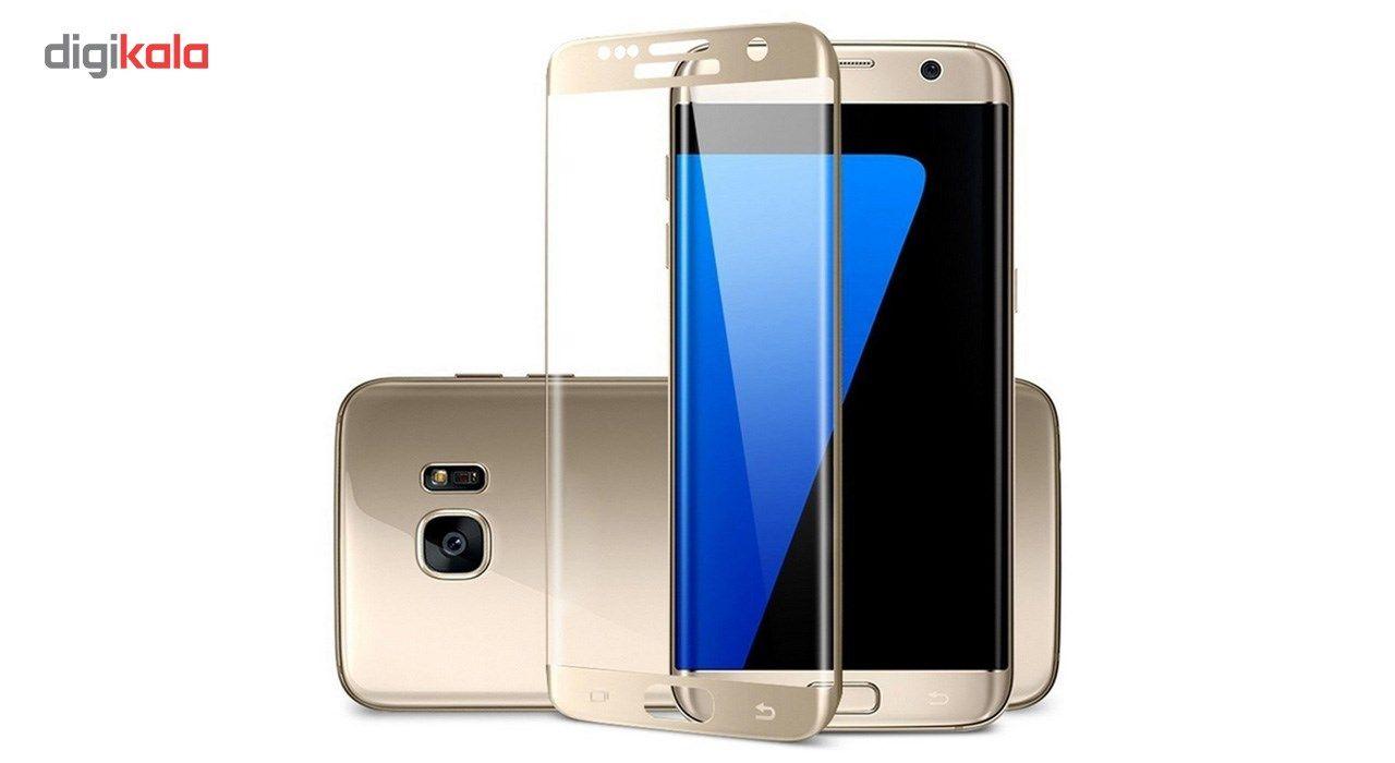 محافظ صفحه نمایش شیشه ای تمپرد مدل Full Cover مناسب برای گوشی موبایل سامسونگ Galaxy S7 Edge main 1 6
