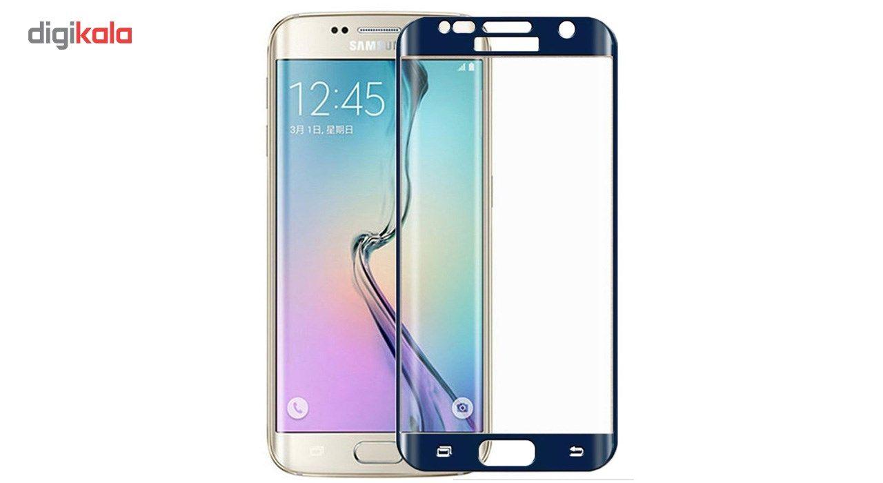 محافظ صفحه نمایش شیشه ای تمپرد مدل Full Cover مناسب برای گوشی موبایل سامسونگ Galaxy S7 Edge main 1 8