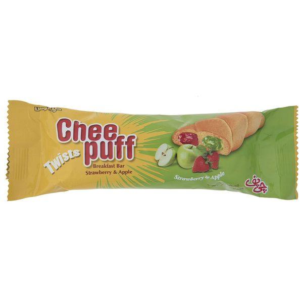 شیرینی مغزدار توت فرنگی و سیب چی پف مقدار 45 گرم