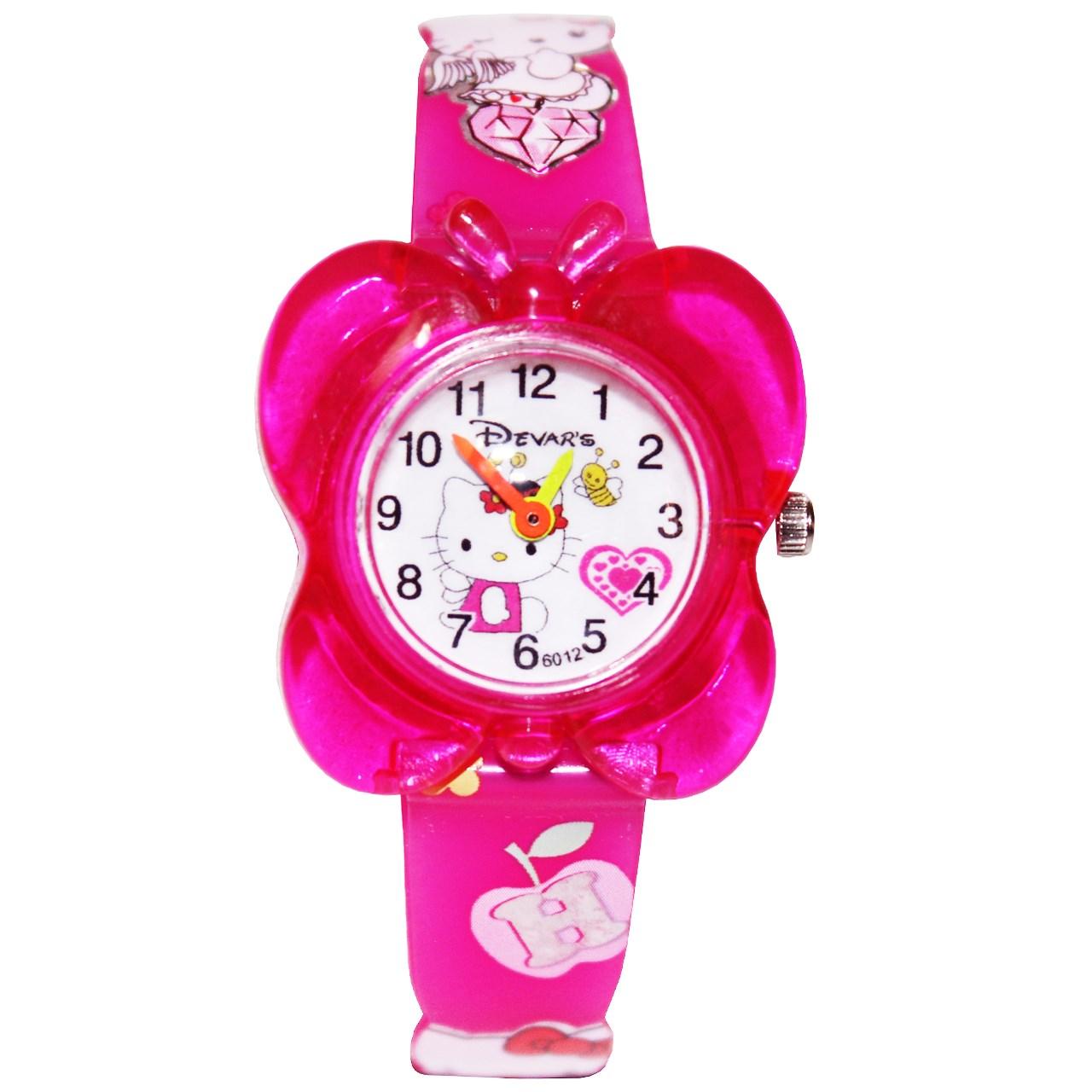 ساعت مچی عقربه ای بچگانه مدل K-04 دخترانه 14