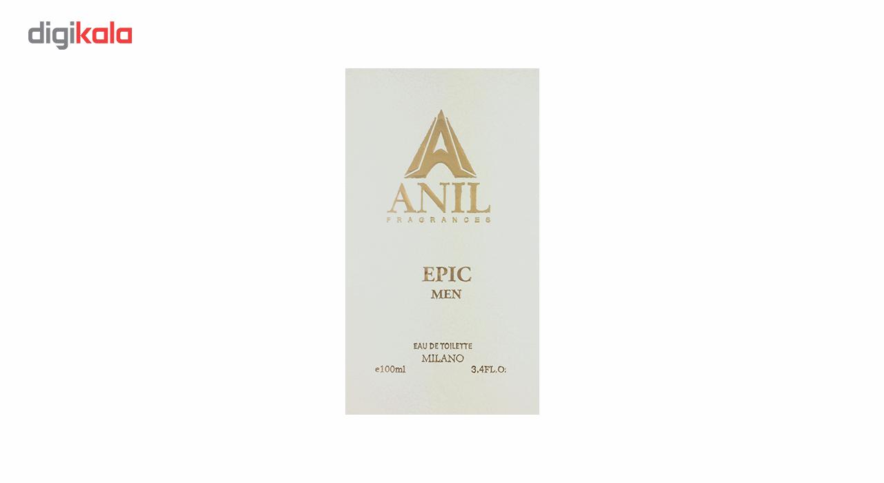 ادوتویلت مردانه آنیل مدل Epic سری اکونومیک حجم 100 میلی لیتر