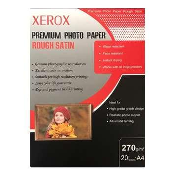 کاغذ عکس زیراکس مدل Rough Satin سایز A4 بسته 20 عددی