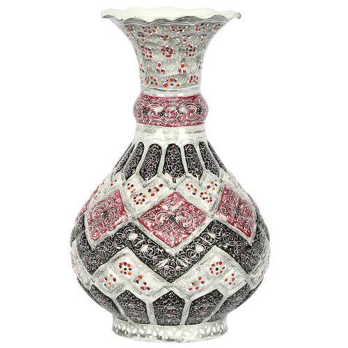 گلدان مسی مینا کاری گالری گوهران مدل گلبهی طوسی - 4