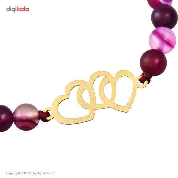 دستبند طلا 18 عیار ماهک مدل MB0158 - مایا ماهک -  - 3