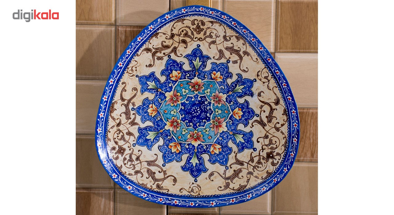 Copper Enamel Plate, Toranj Model in diameter of 16cm