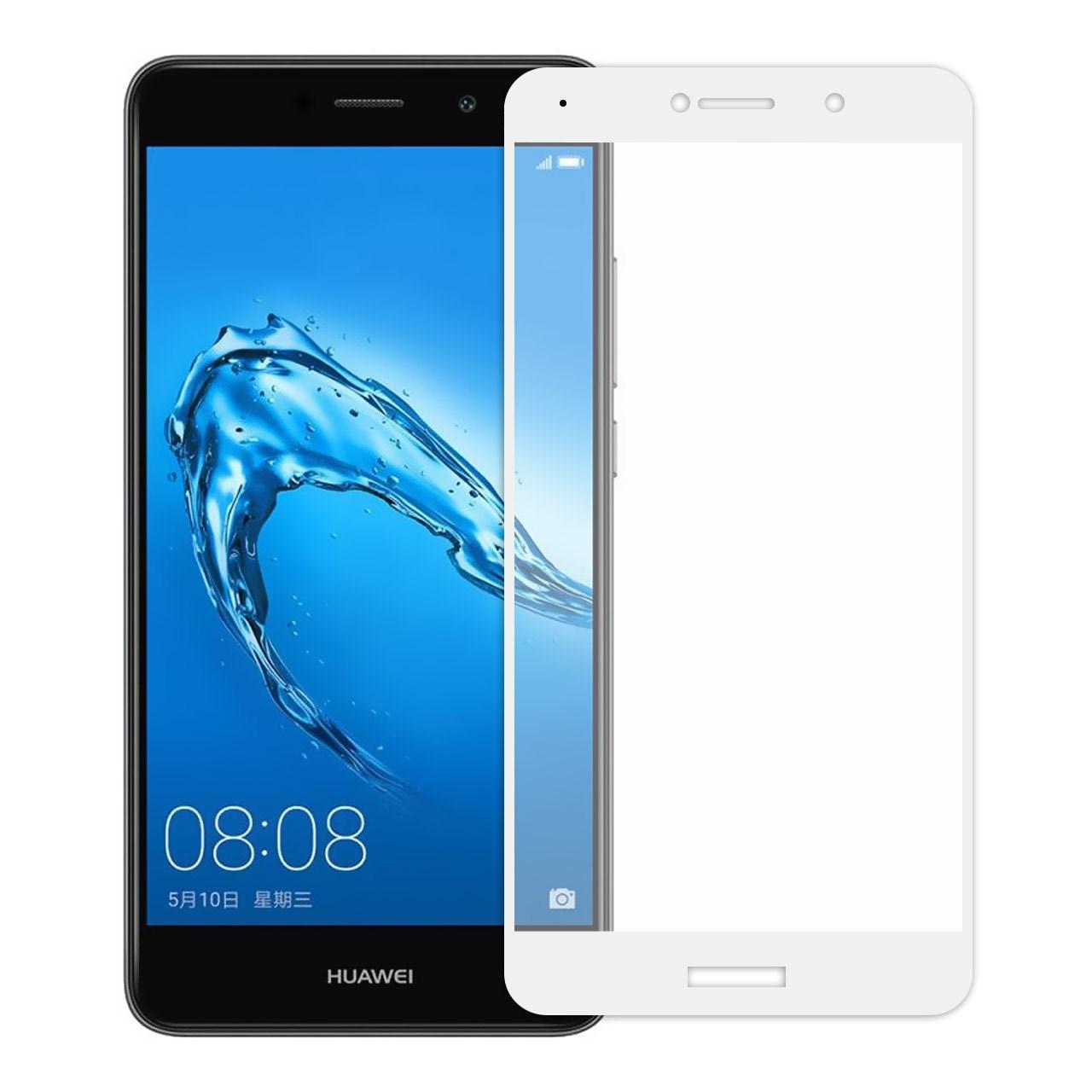 محافظ صفحه نمایش شیشه ای تمپرد مدل Full Cover مناسب برای گوشی هوآوی Huawei Y7 Prime