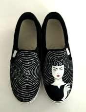 کفش روزمره زنانه دالاوین طرح هزارتو کد V-12 -  - 4