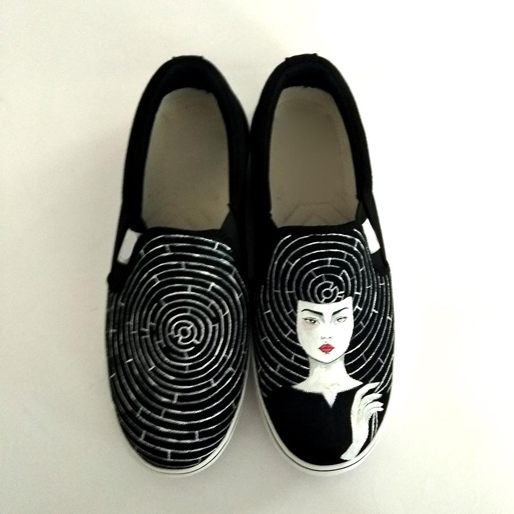 کفش روزمره زنانه دالاوین طرح هزارتو کد V-12 -  - 5