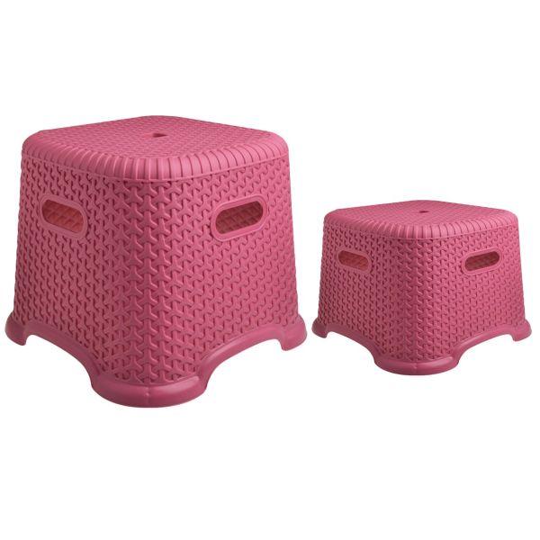 صندلی حمام مهروز مدل Wicker مجموعه 2 عددی