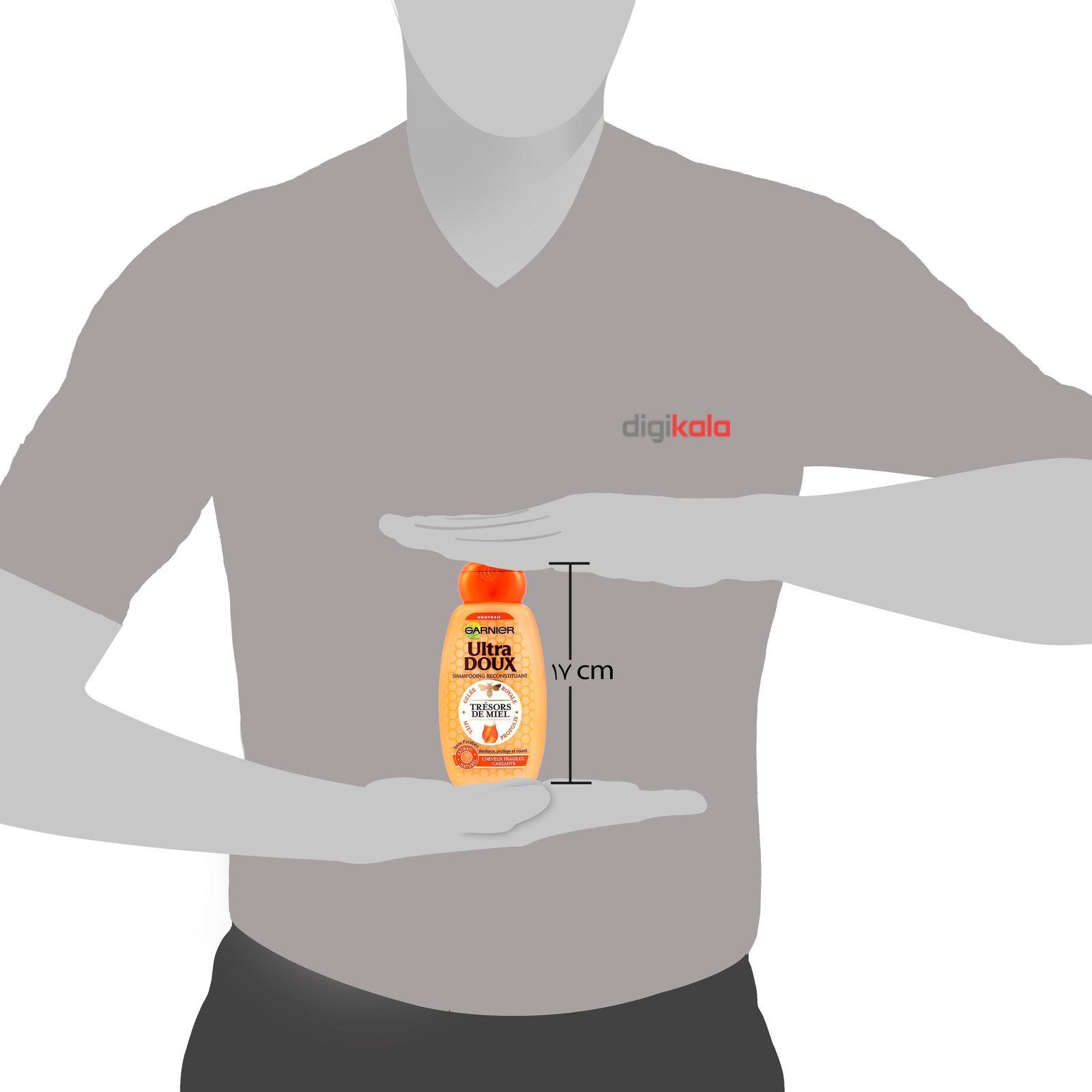 شامپو ترمیم کننده و تغذیه کننده مو گارنیه سری Ultra Doux مدل Honey حجم 250 میلی لیتر main 1 2