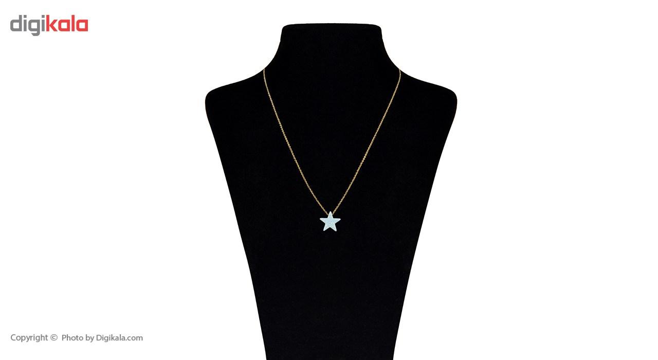 قیمت گردنبند طلا 18 عیار ماهک مدل MM0539 - مایا ماهک