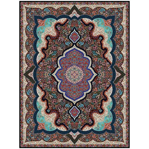 فرش ماشینی ماندگار پارس طرح شاپری زمینه سورمه ای