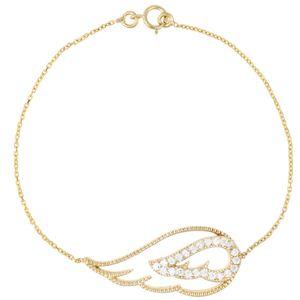 دستبند طلا 18 عیار پرسته مدل 1235B