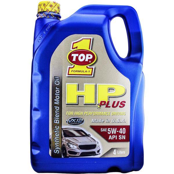روغن موتور خودرو تاپ وان مدل HP Plus 5W-40 حجم 4 لیتر