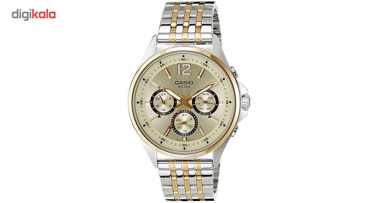 خرید ساعت مچی عقربه ای مردانه کاسیو مدل  MTP-E303SG-9AVDF | ساعت مچی