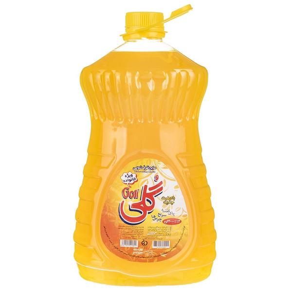 مایع ظرفشویی گلی زرد مقدار 4 کیلو گرمی