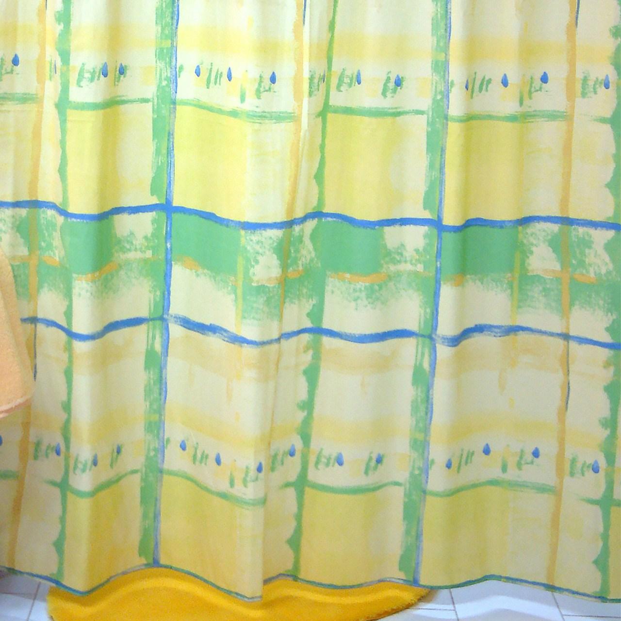 پرده حمام فرش مریم مدل Cubism - سایز 200 × 180 سانتی متر