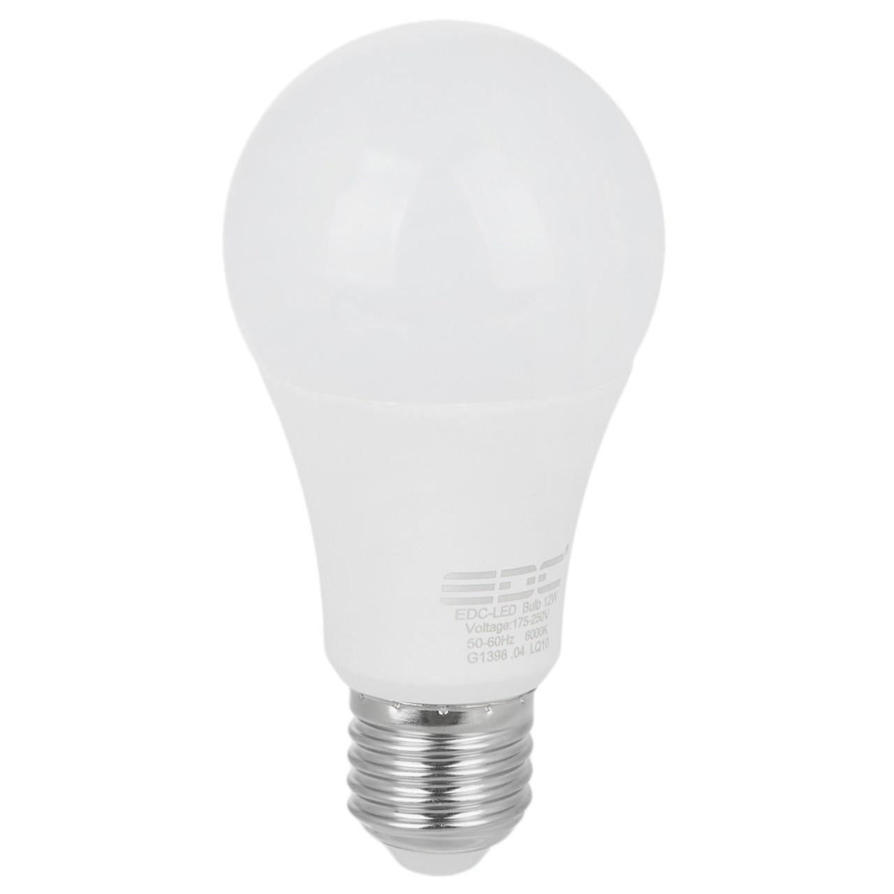 لامپ اس ام دی 12 وات ای دی سی پایه E27