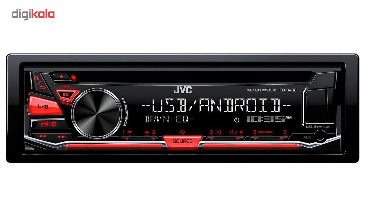 پخش کننده خودرو جی وی سی مدل KD-R482