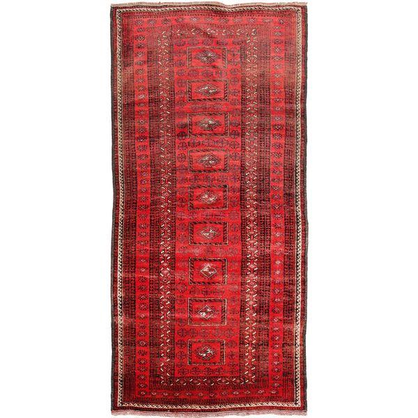 فرش دستبافت قدیمی دو و نیم متری فرش هریس کد 100111