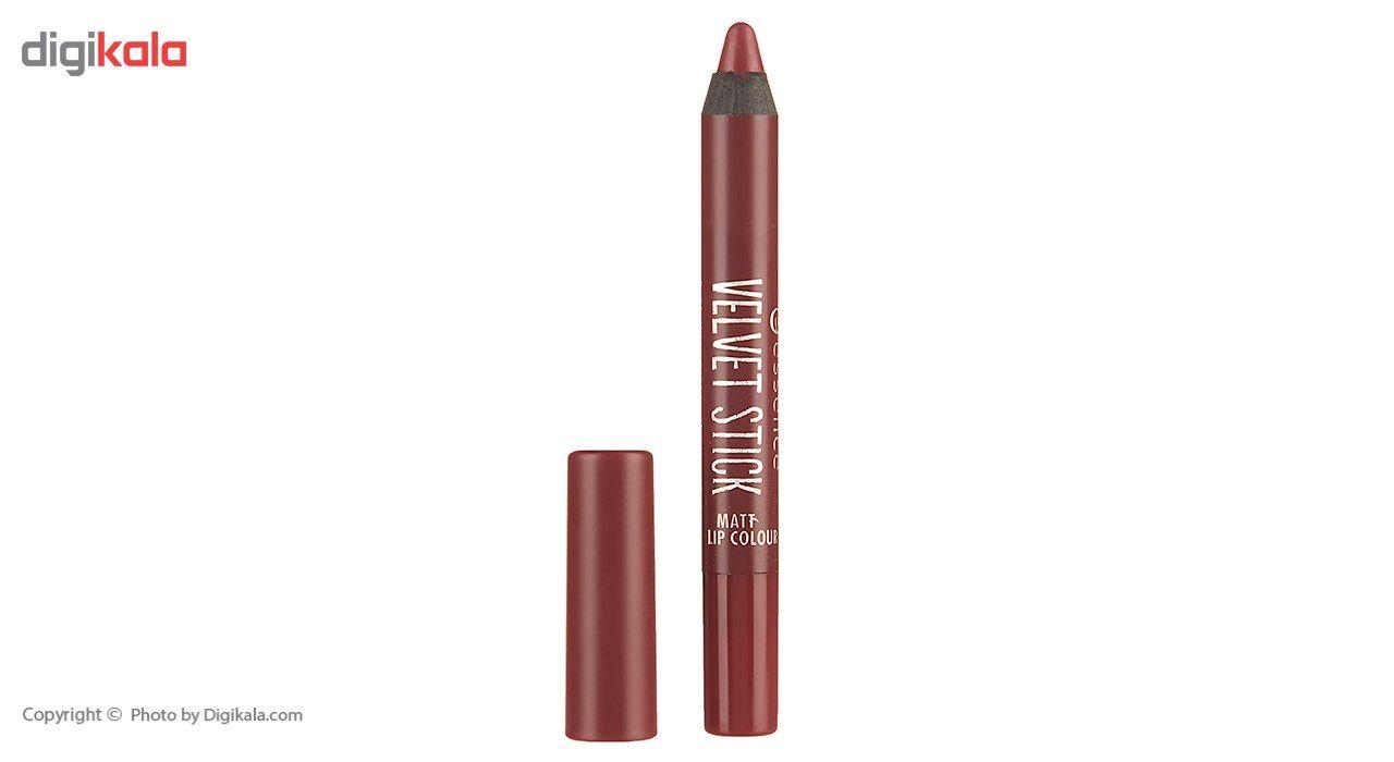 رژ لب مدادی اسنس سری Velvet Stick مدل Plum Perfect شماره 05 main 1 2