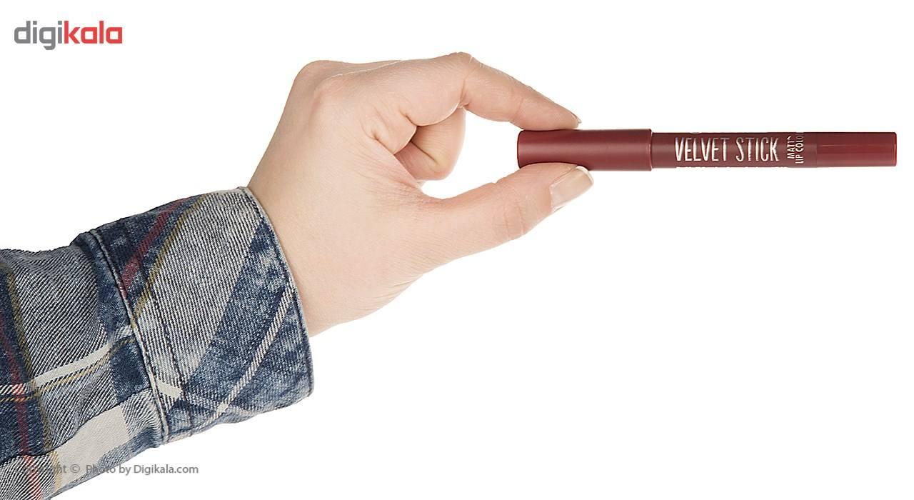رژ لب مدادی اسنس سری Velvet Stick مدل Plum Perfect شماره 05 main 1 3