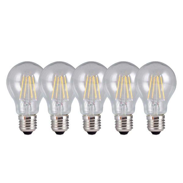 لامپ ال ای دی فیلامنتی 6 وات تکنوتل مدل 206 پایه E27 بسته 5 عددی