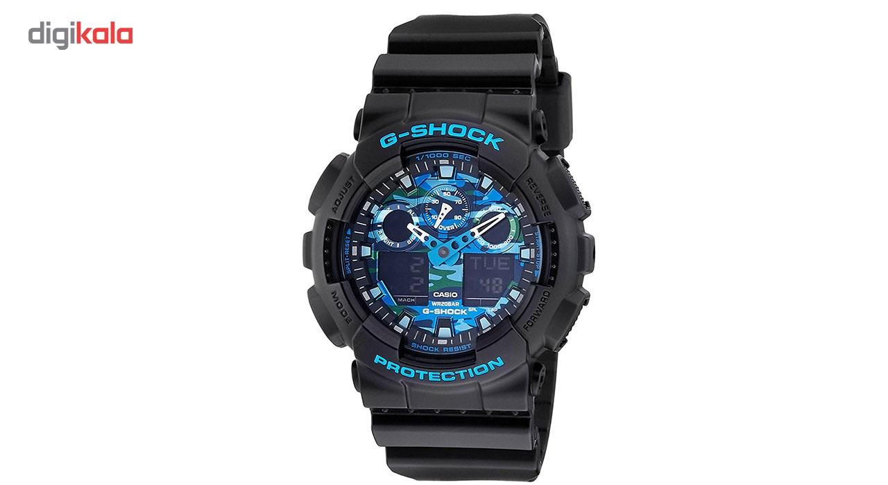 خرید ساعت مچی عقربه ای مردانه کاسیو مدل GA-100CB-1ADR