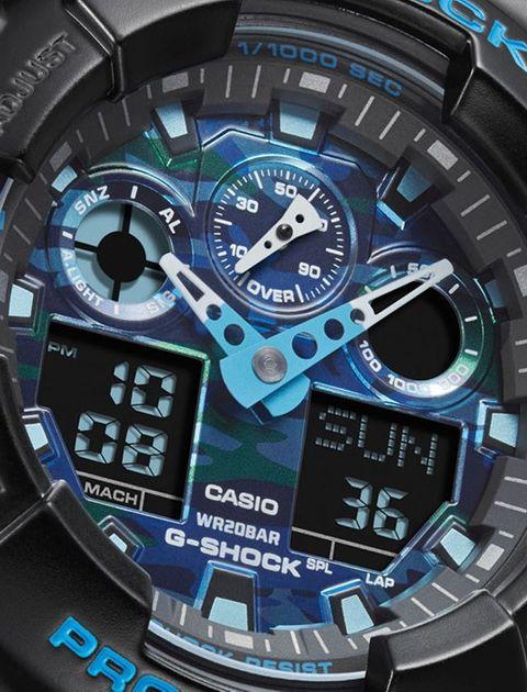 ساعت مچی عقربه ای مردانه کاسیو مدل GA-100CB-1ADR -  - 2