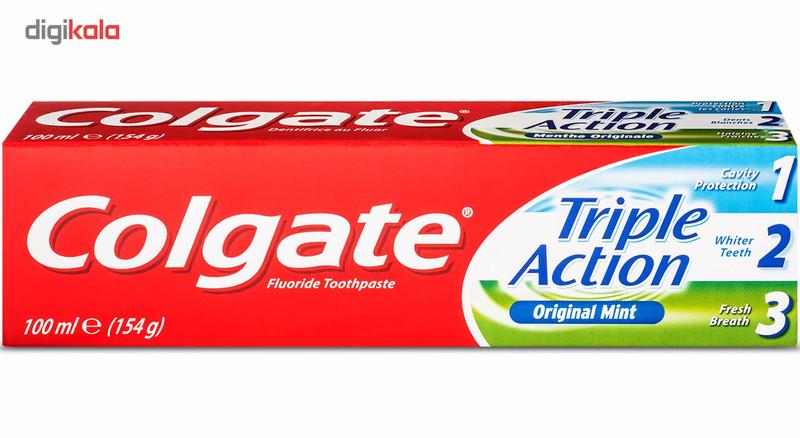 خمیر دندان کلگیت سری Original Mint مدل Triple Action حجم 100 میلی لیتر