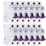 فیوز مینیاتوری تک فاز 32 آمپر دنا الکتریک ایرانیان مدل C32-6KA-12Pcs بسته 12 عددی