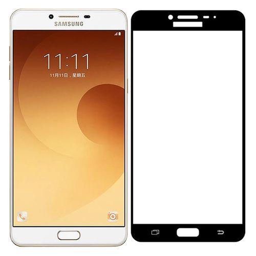 محافظ صفحه نمایش شیشه ای تمپرد مدل Full Cover مناسب برای گوشی موبایل سامسونگ Galaxy C9