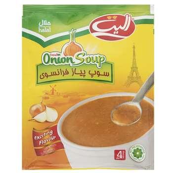 سوپ نیمه آماده پیاز فرانسوی الیت مقدار 65 گرم