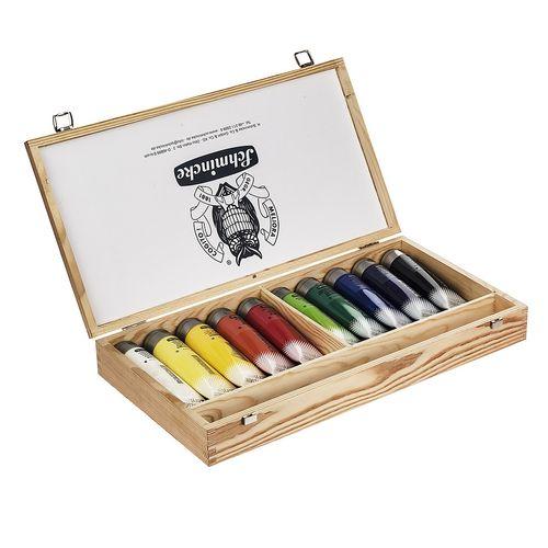 رنگ اکریلیک 10 رنگ اشمیک مدل Akademie حجم 120 میلی لیتر
