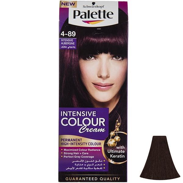 کیت رنگ موی پلت سری Intensive مدل Intensive Aubergine شماره 89-4