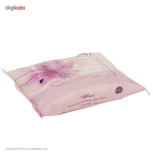 دستمال مرطوب یونی لد مدل Daily Use بسته 20 عددی