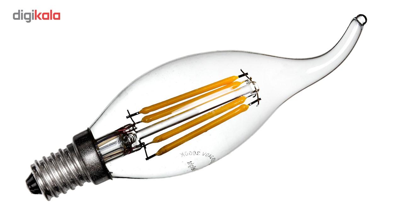 لامپ ال ای دی فیلامنتی 4 وات دیلایت مدل 00188x12 پایه E14 بسته 12 عددی